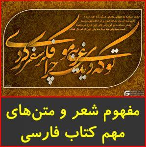 جزوه ۲۲۵ مفهوم شعر و متن فارسی